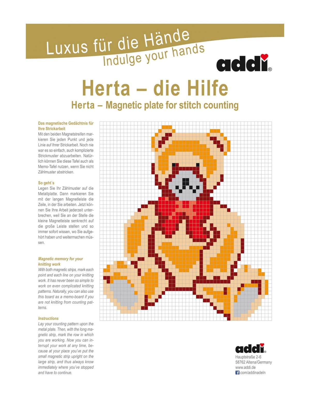 addi magnetische Zählhilfe Herta mit Aufsteller