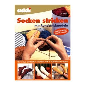 addi Socken stricken mit 2 Rundstricknadeln (deutsch)