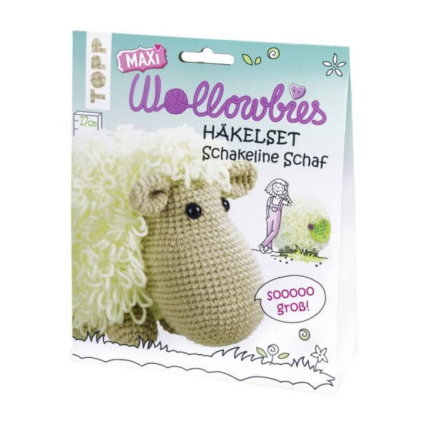 Maxi-Wollowbies Häkelset Schakeline Schaf