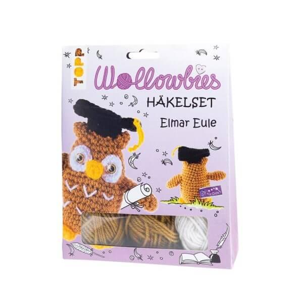 4er Set: Fabelhafte Wollowbies Häkelset Elmar Eule