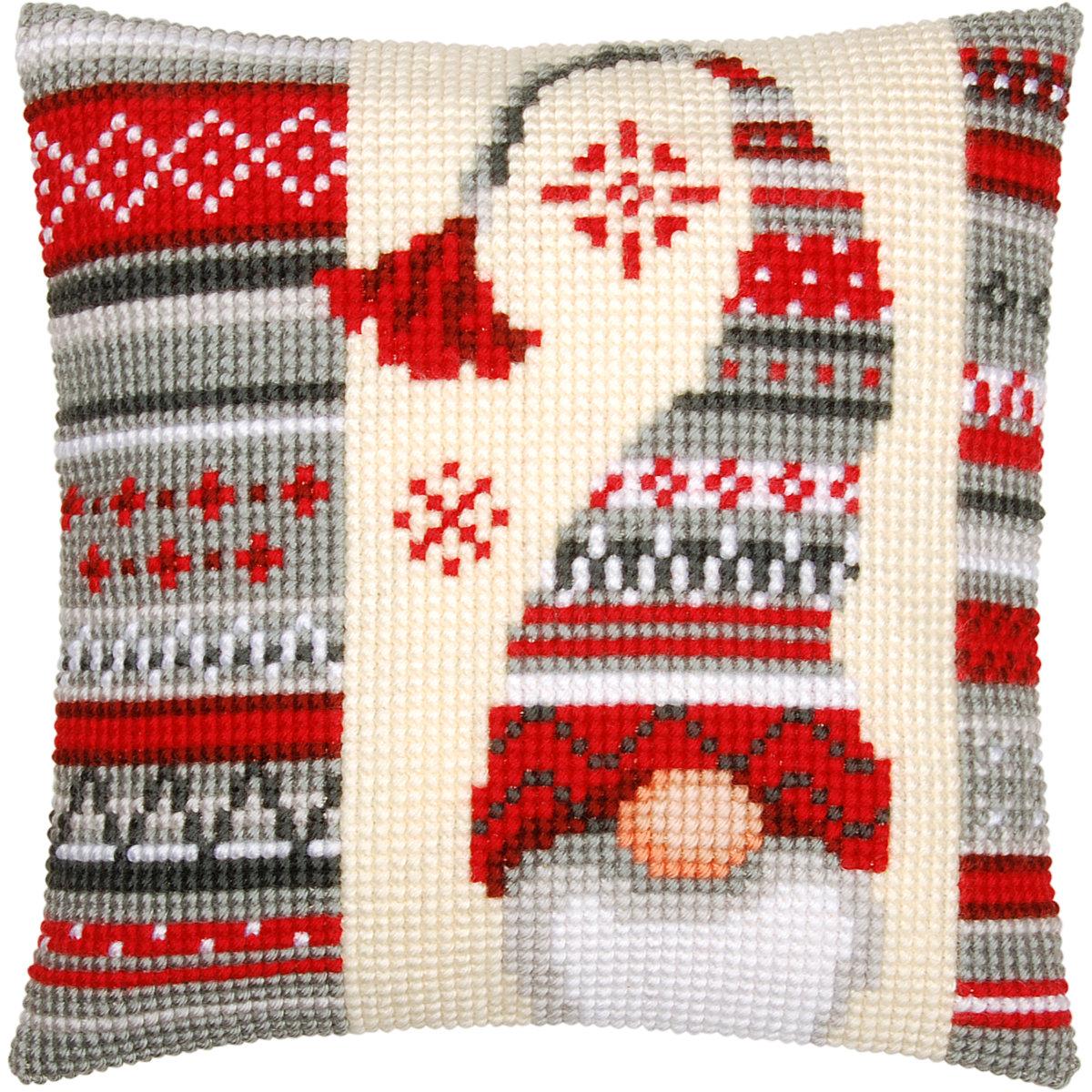 Vervaco Kreuzstich Kissen Weihnachtswichtel Motiv 2